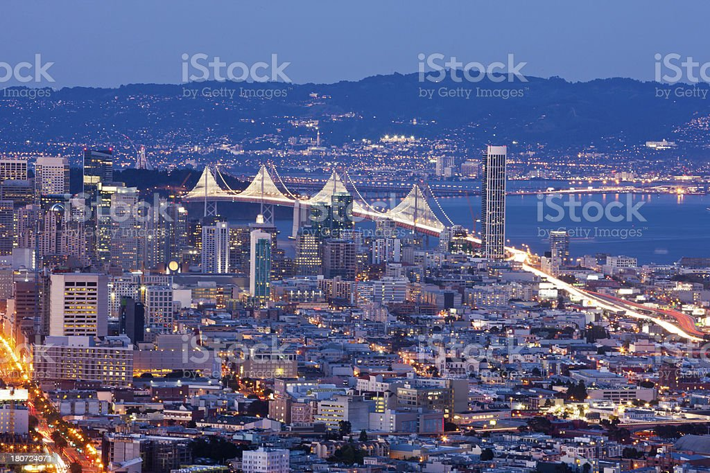 San Francisco Bay At Dusk royalty-free stock photo