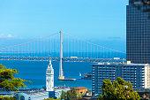 San Francisco Bay Bridge Ferry Building Bay