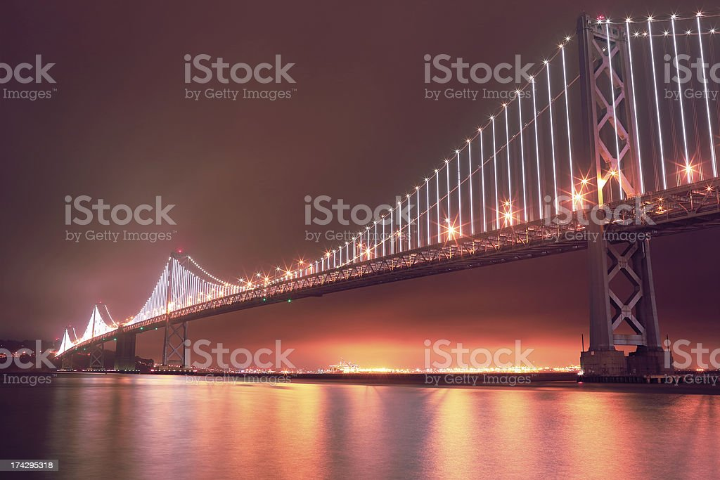 San Francisco: Bay Bridge from Embarcadero royalty-free stock photo