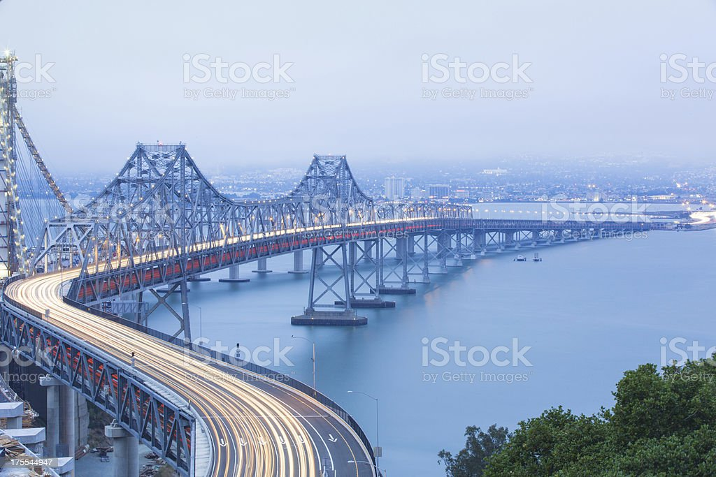 San Francisco Bay Bridge royalty-free stock photo