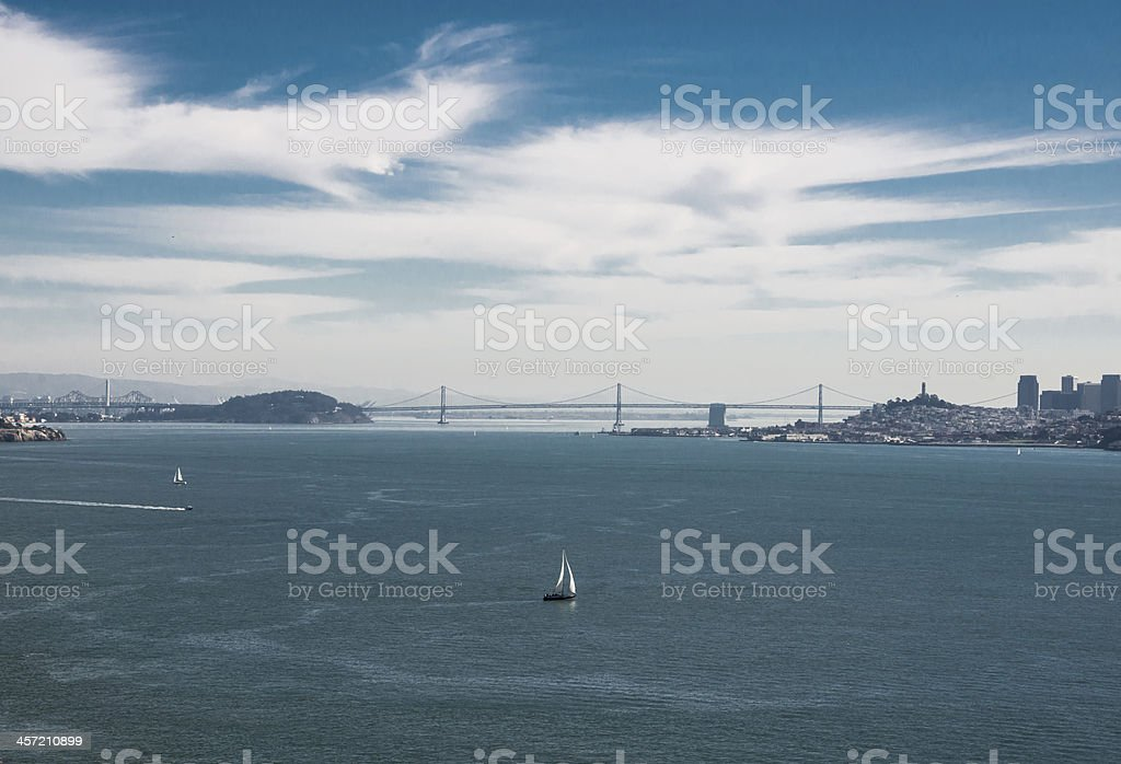 San Francisco Bay Bridge royalty-free stock photo
