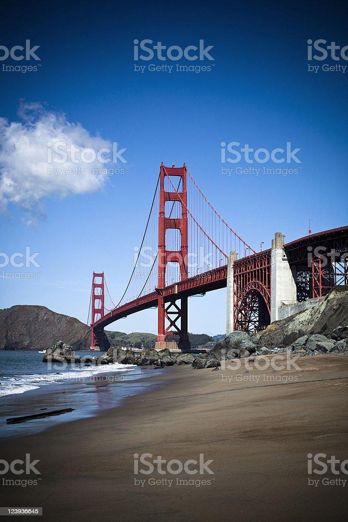 San Francisco Bay, Golden Gate Bridge royalty-free stock photo