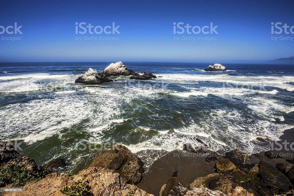San Francisco Bay, Lands End royalty-free stock photo