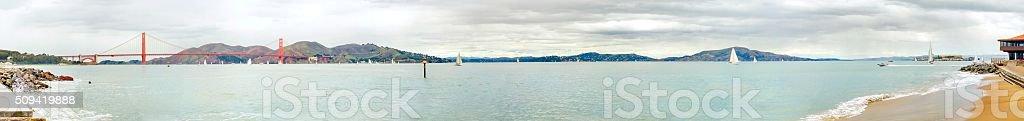 San Francisco Bay panorama, California stock photo
