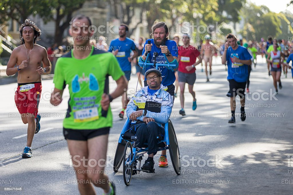 San Francisco Bay to Breakers 2016 Event stock photo