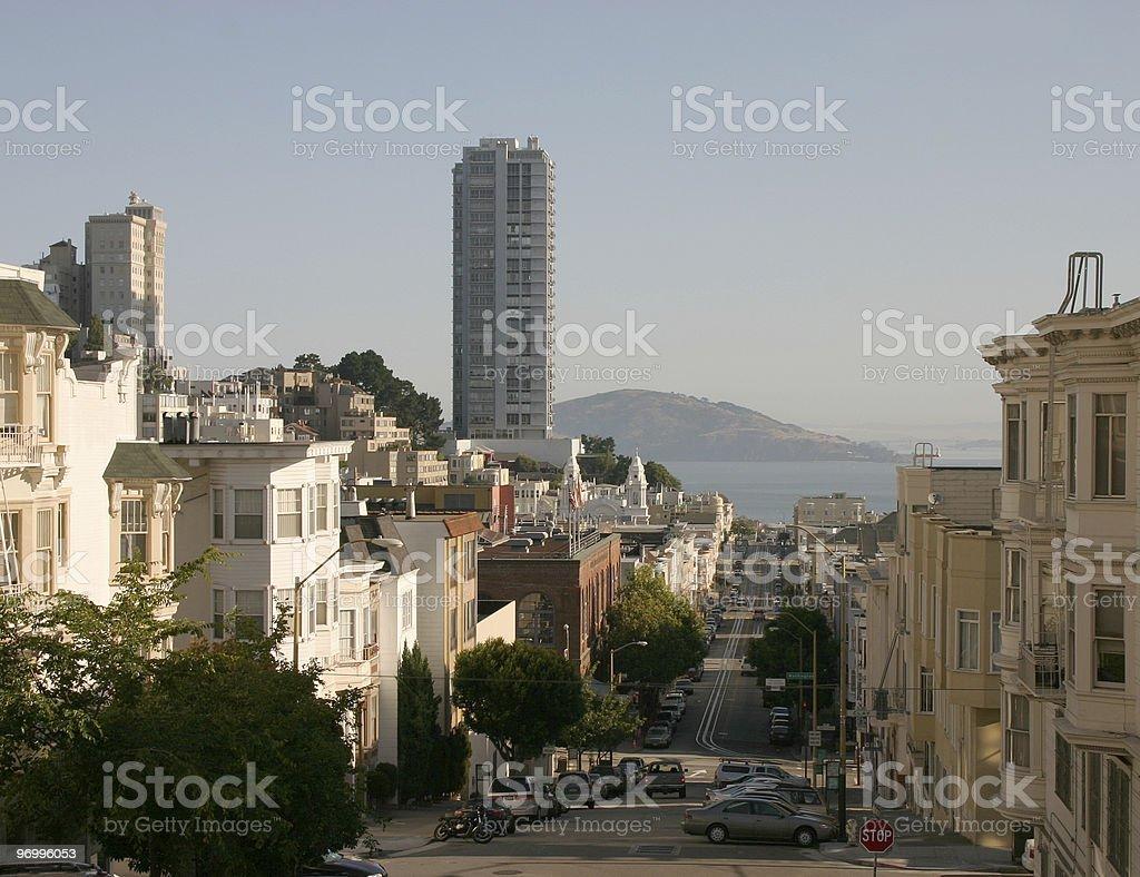 San Francisco bay view royalty-free stock photo