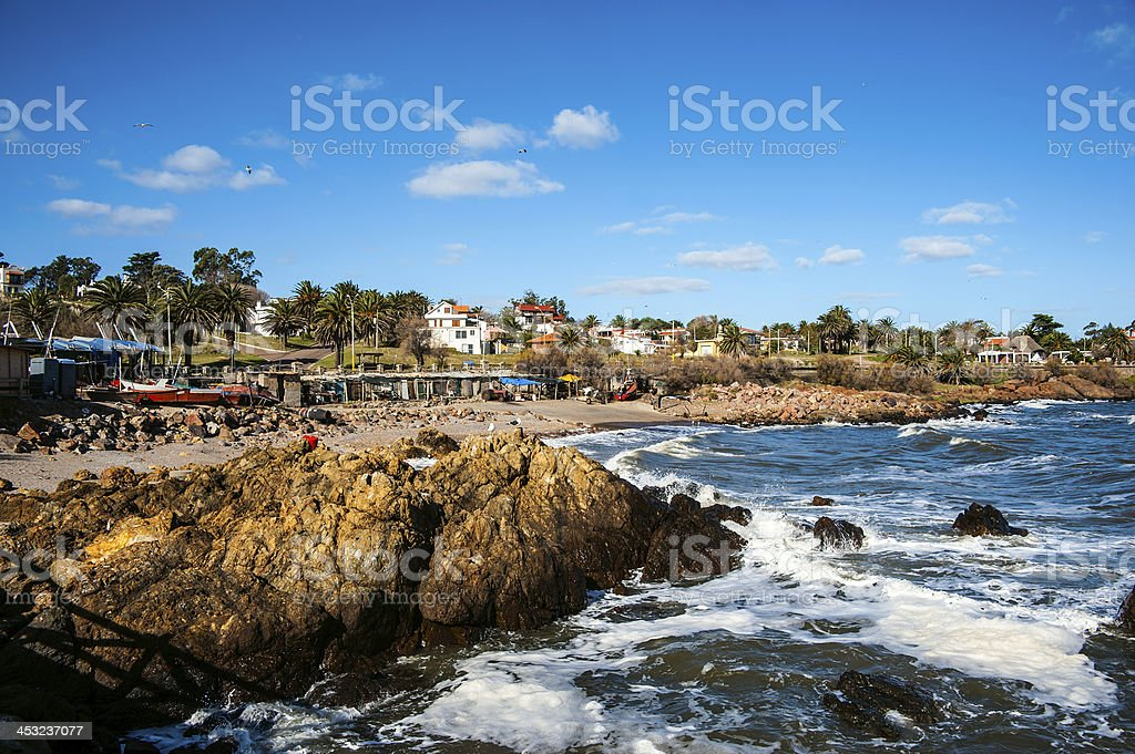San Francisco beach, Piriapolis in the Uruguay Coast stock photo