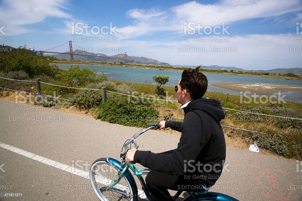 san francisco bicycling royalty-free stock photo