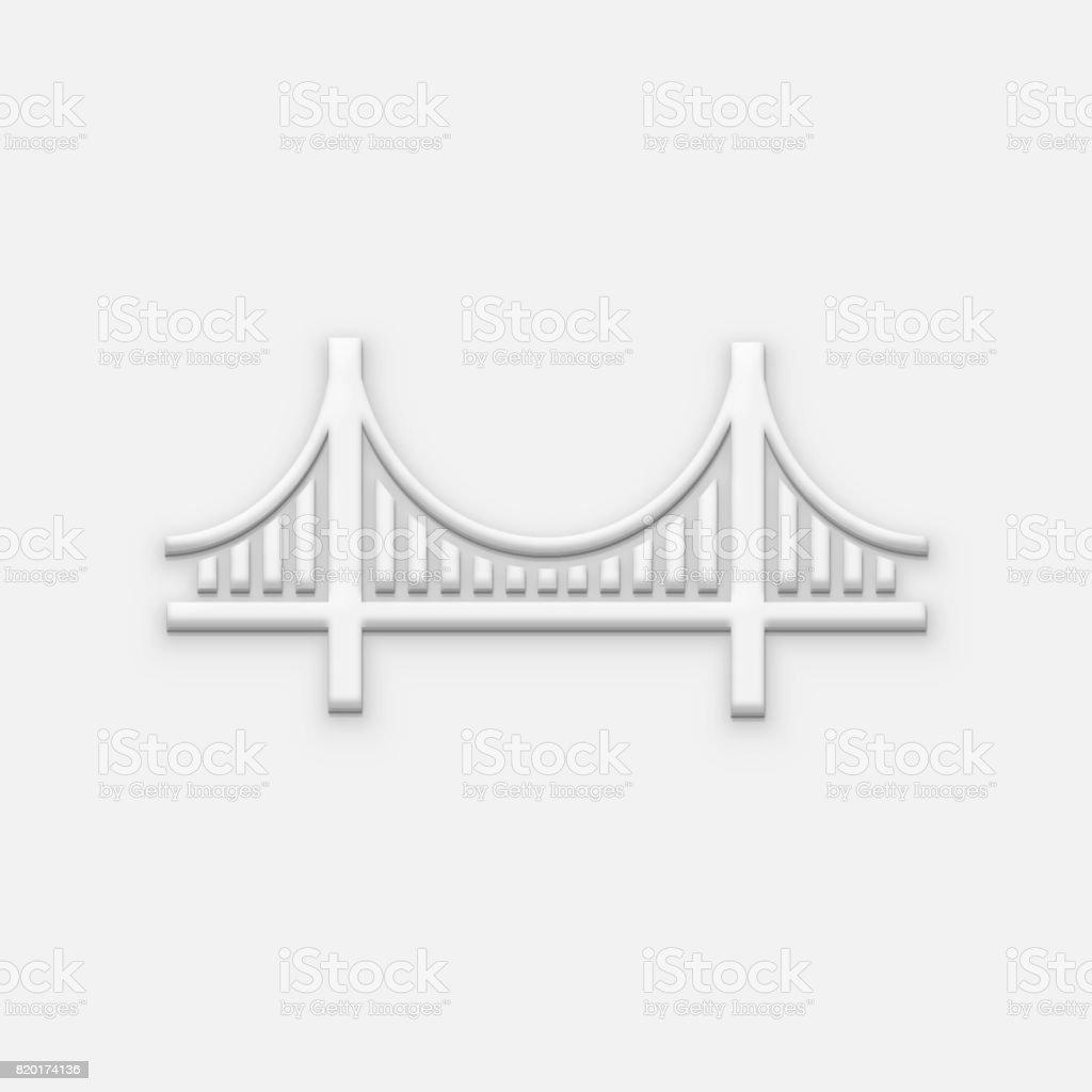 San Francisco Bridge Logo. 3D Render Illustration stock photo