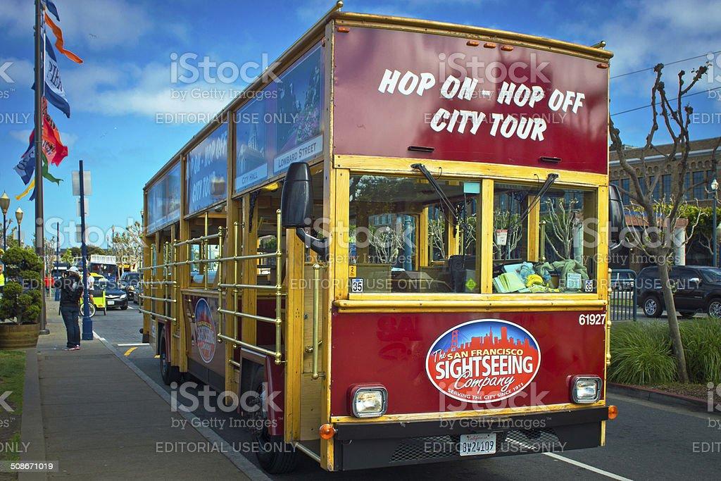 San Francisco bus stock photo