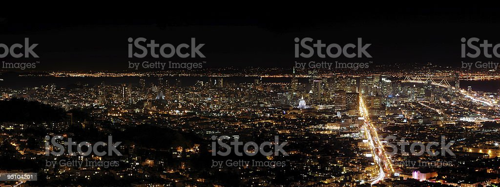 San Francisco by night royalty-free stock photo