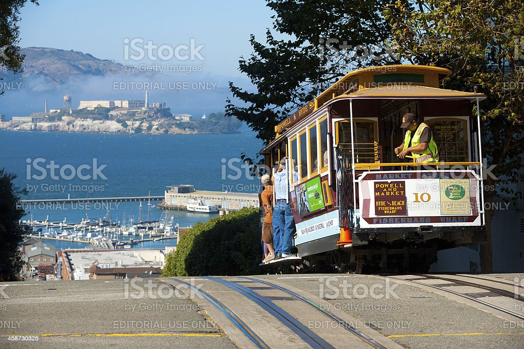 San Francisco Cable Car Alcatraz Island stock photo