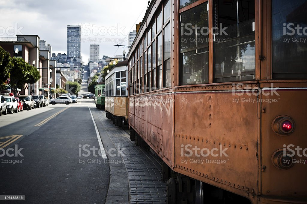 San Francisco Cable Car City royalty-free stock photo