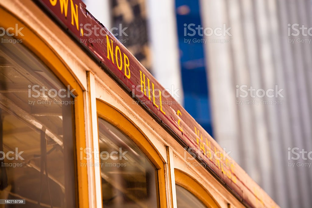 San Francisco Cable Car Detail stock photo