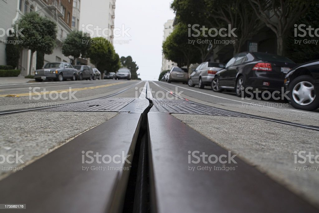San Francisco: Cable Car Line royalty-free stock photo