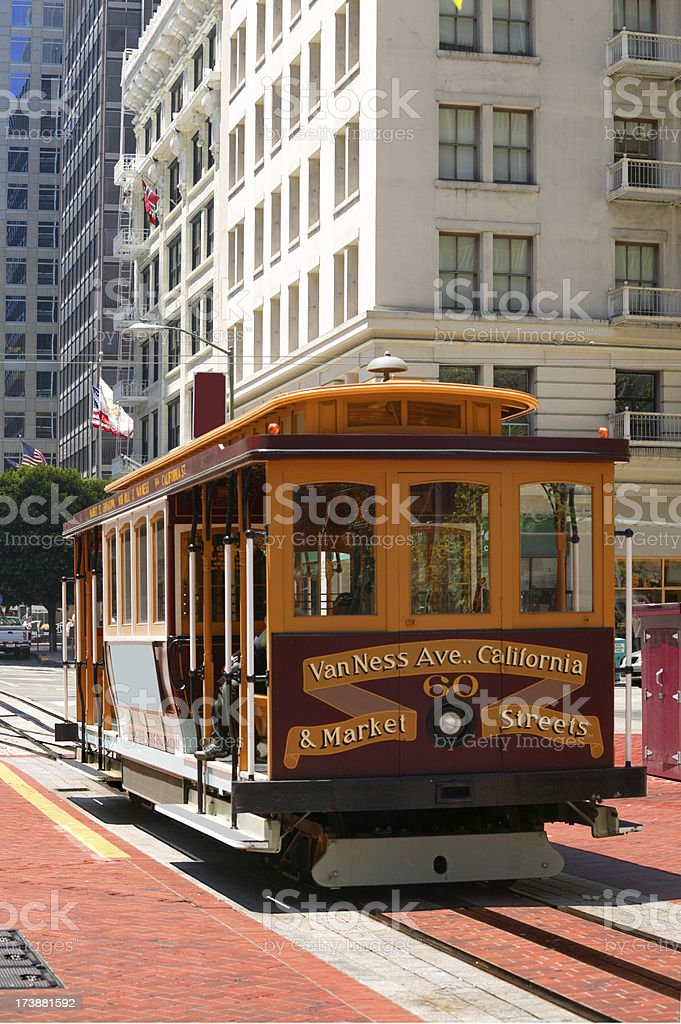 San Francisco Cable Car royalty-free stock photo