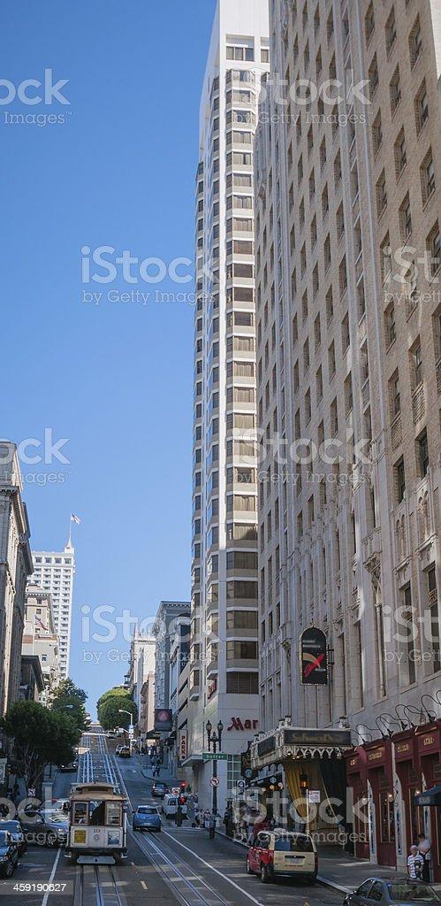 San Francisco calbe car stock photo
