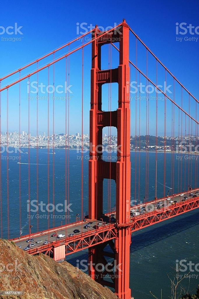 San Francisco California and the Golden Gate bridge royalty-free stock photo