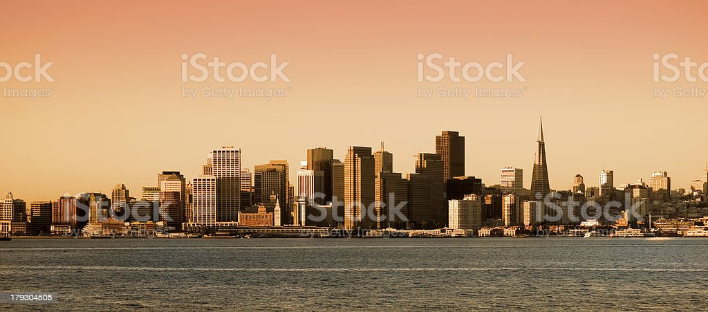 San Francisco, California  at sunset royalty-free stock photo