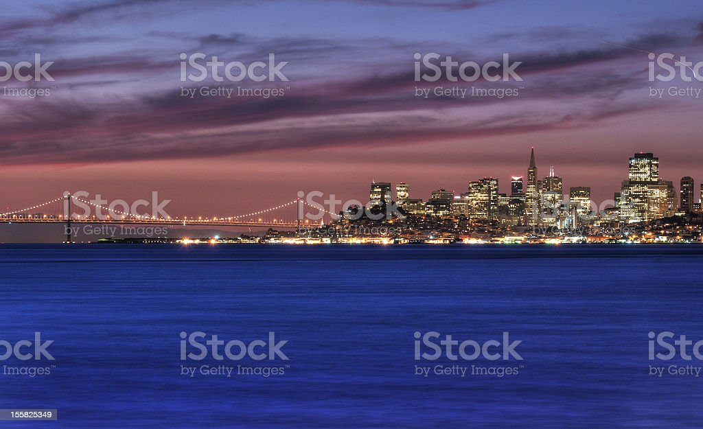 San Francisco, California Skyline at Sunrise stock photo