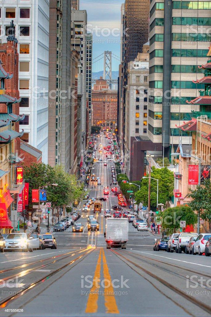 San Francisco California Street stock photo