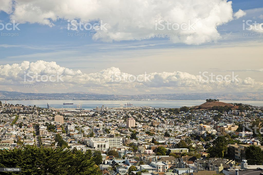 San Francisco Central Waterfront and Bernal Heights stock photo
