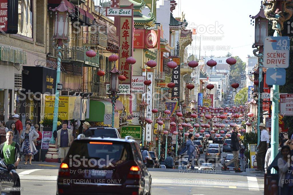 San Francisco Chinatown royalty-free stock photo