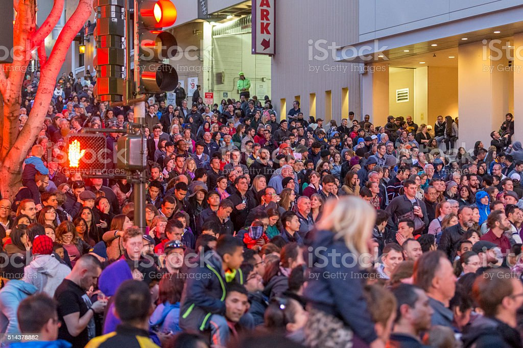 San Francisco Chinese New Year Parade in chinatown stock photo