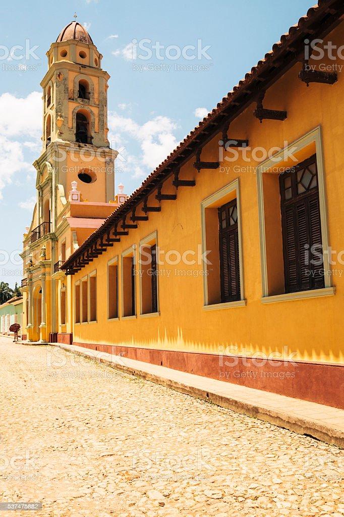 San Francisco Church bell tower in Trinidad, Cuba stock photo