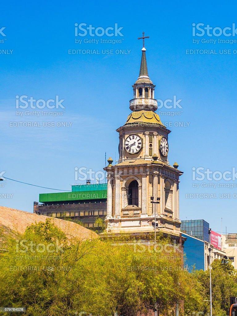 San Francisco Church Bell Tower stock photo