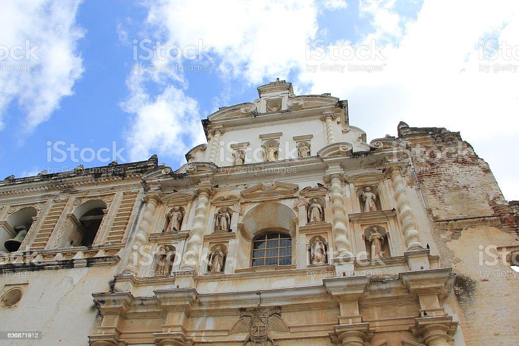 San Francisco Church, Guatemala ,Antigua stock photo
