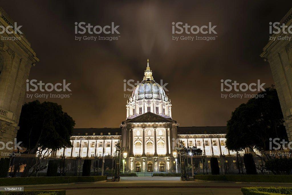 San Francisco City Hall at night stock photo