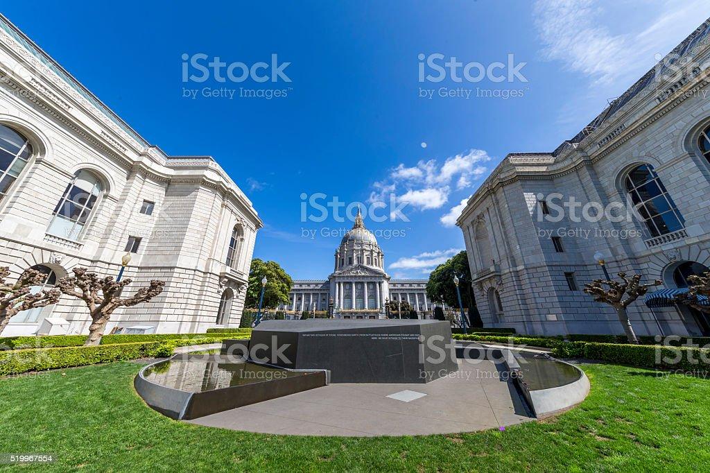 San Francisco City Hall back view stock photo