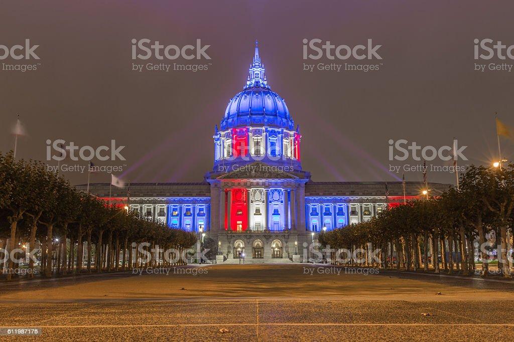 San Francisco city hall building stock photo