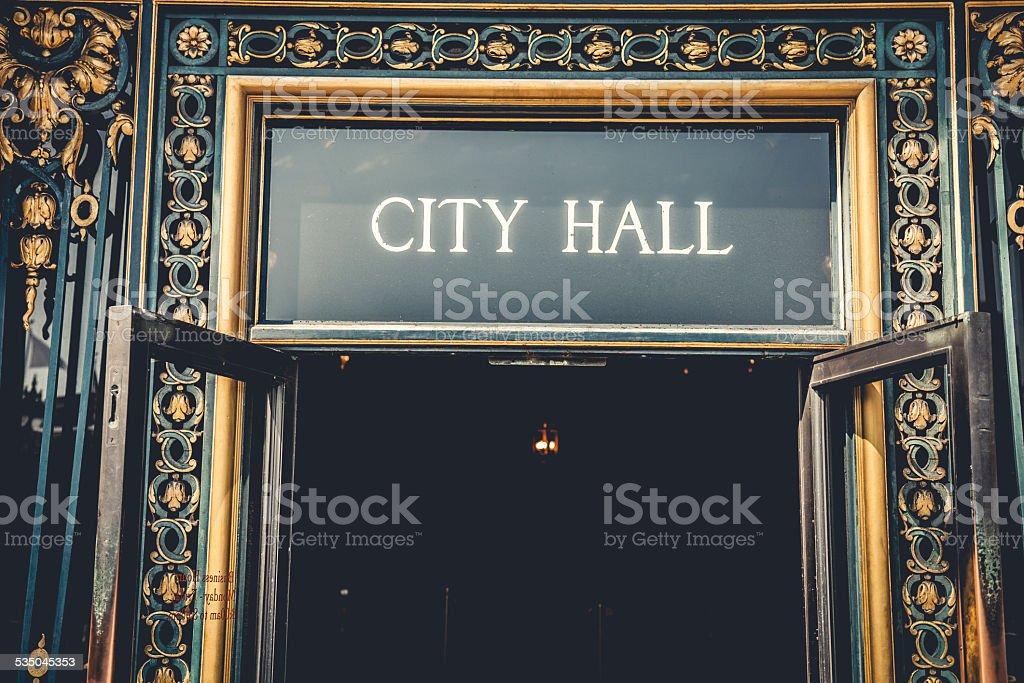San Francisco City Hall entrance stock photo