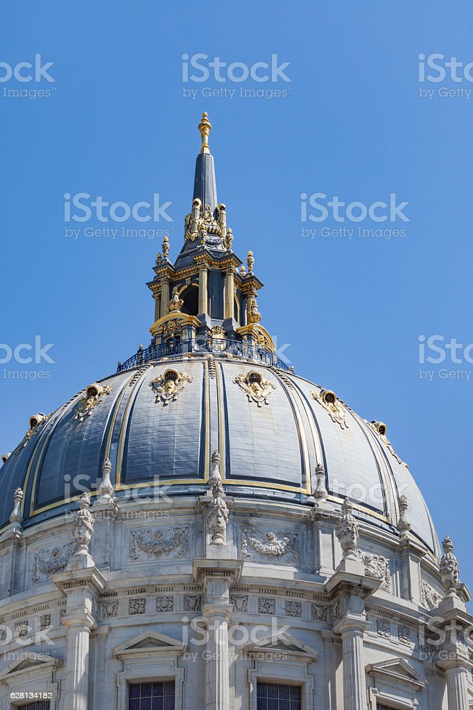 San Francisco City Hall is Beaux-Arts architecture stock photo