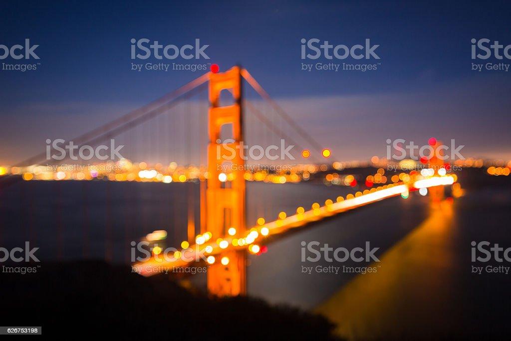 San Francisco Cityscape Blurred stock photo