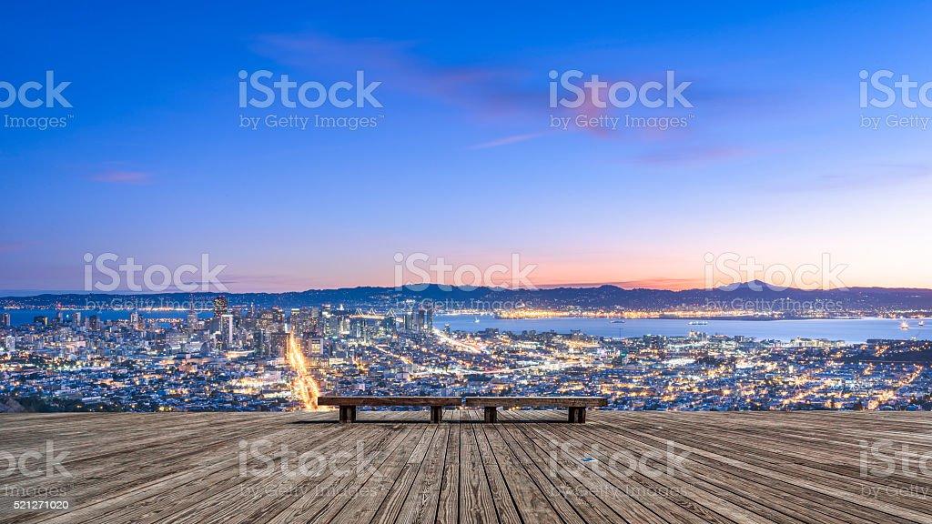 San Francisco cityscape in sunrse stock photo