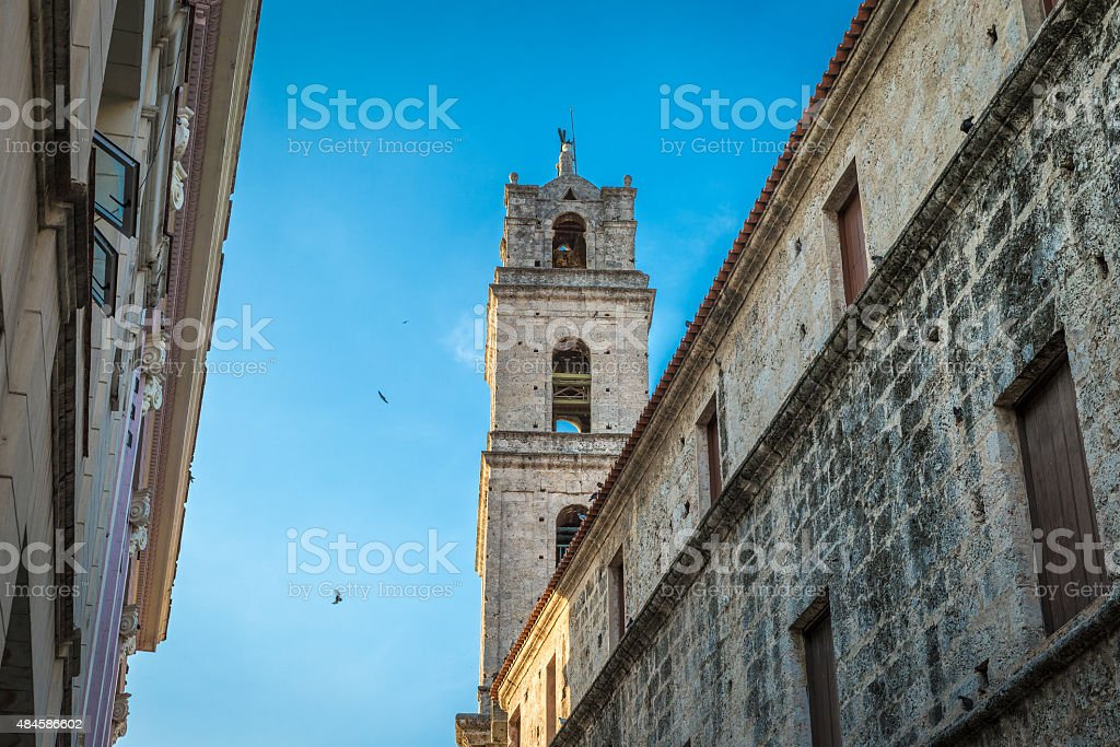 San Francisco Convent in Havana, Cuba stock photo