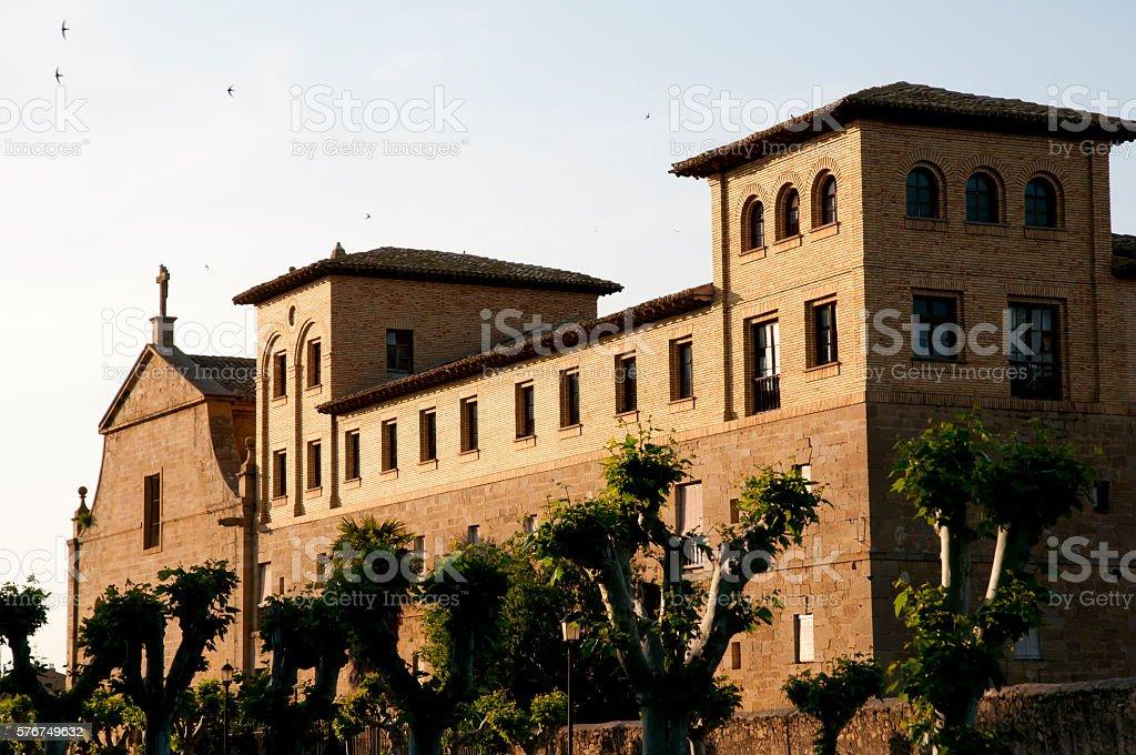 San Francisco Convent - Olite - Spain stock photo