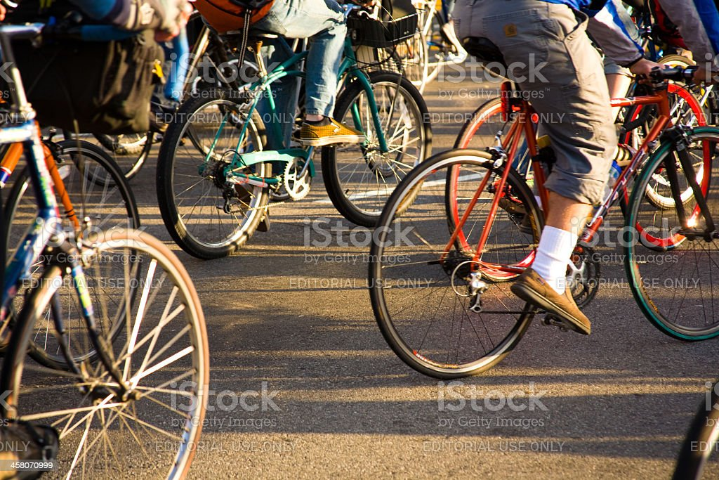 San Francisco Critical Mass stock photo