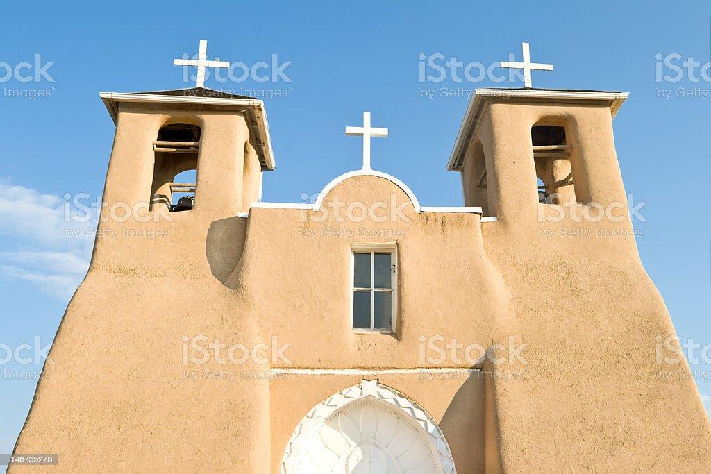 San Francisco de Asis Church Mission Ranchos Taos Adobe stock photo