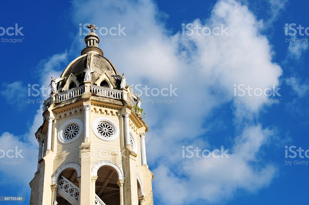 San Francisco de Asis Church, Panama City stock photo