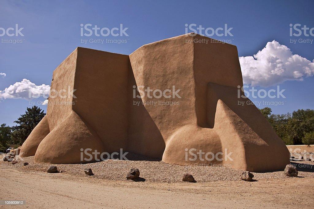 San Francisco de Assisi - Rear View stock photo