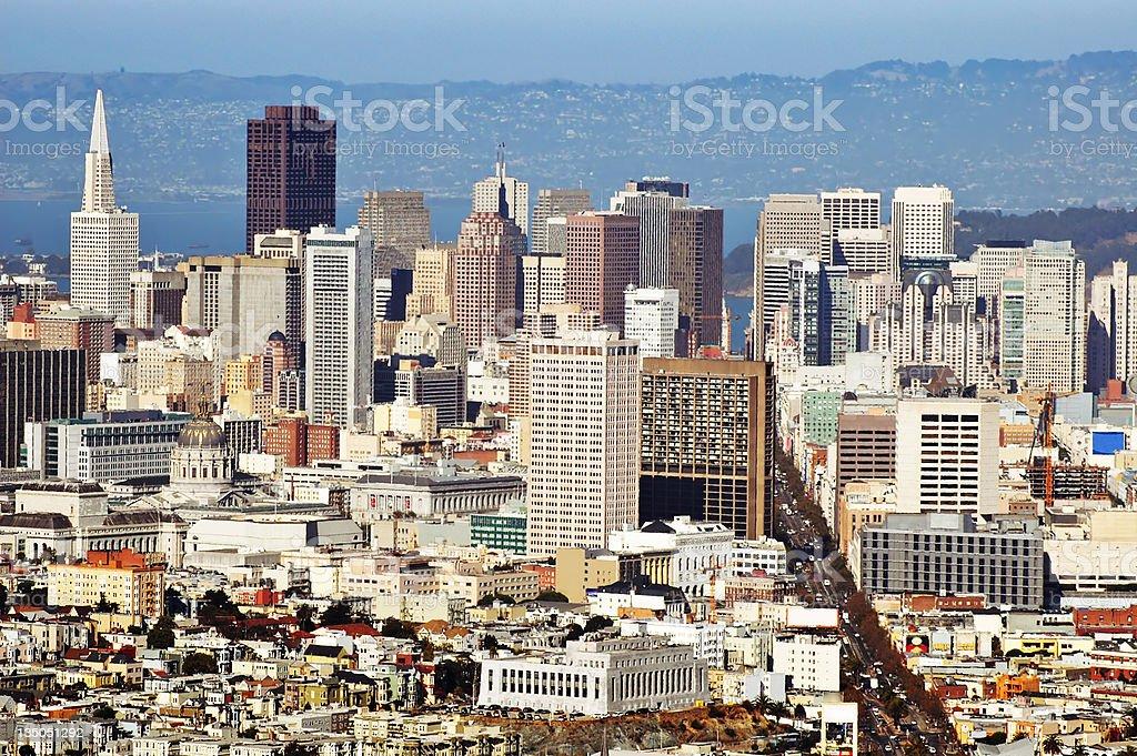 San Francisco Downtown aerial stock photo