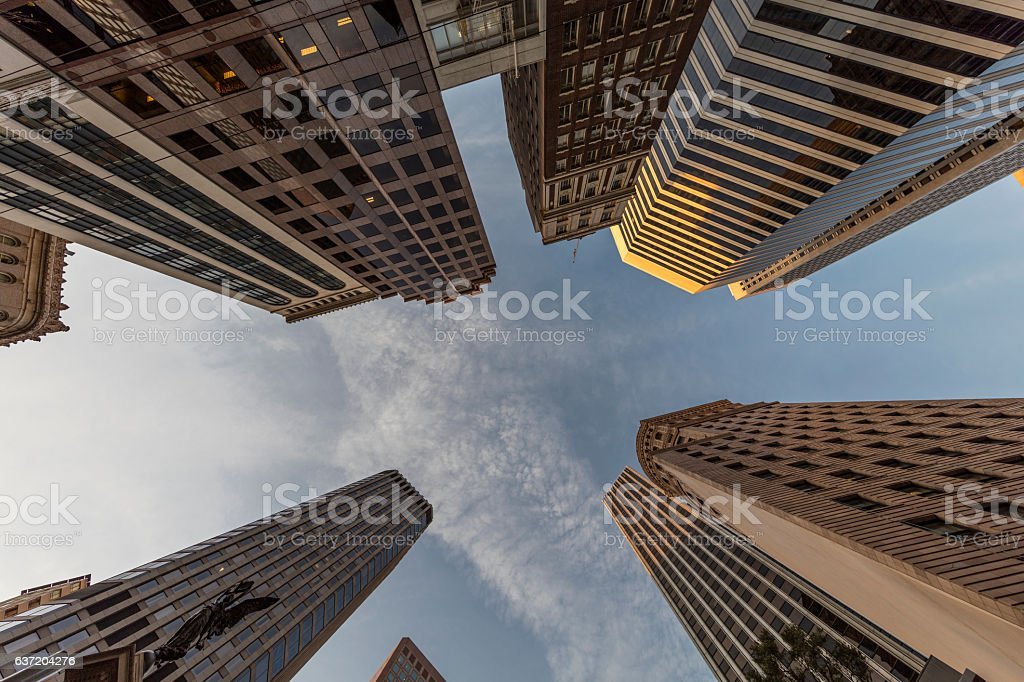 San Francisco Downtown Market Street Building View at Holiday, CA stock photo
