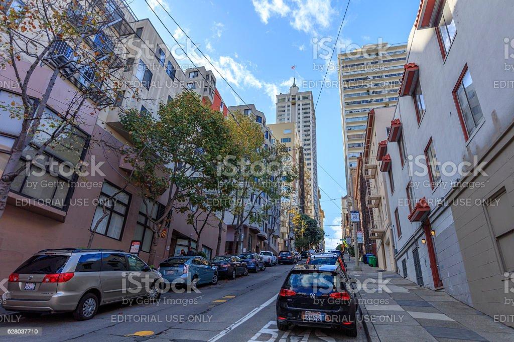 San Francisco Downtown street View stock photo