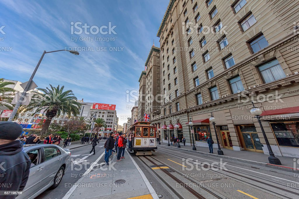 San Francisco Downtown Union Square View at Holiday, CA stock photo