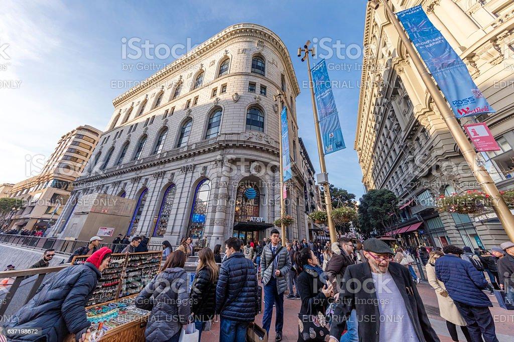 San Francisco Downtown View at Holiday, CA stock photo