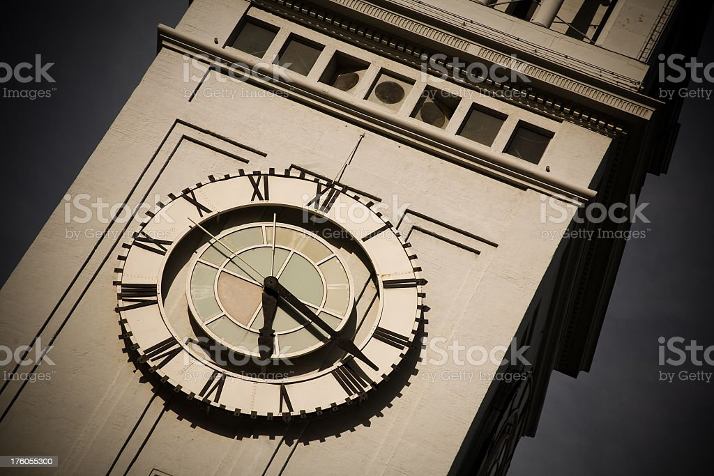 San Francisco Ferry Building Clock Tower stock photo